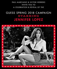 GUESS Campaign Reveal Party with Jennifer Lopez